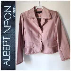 ALBERT NIPON Designer Silk Wool Blazer Jacket